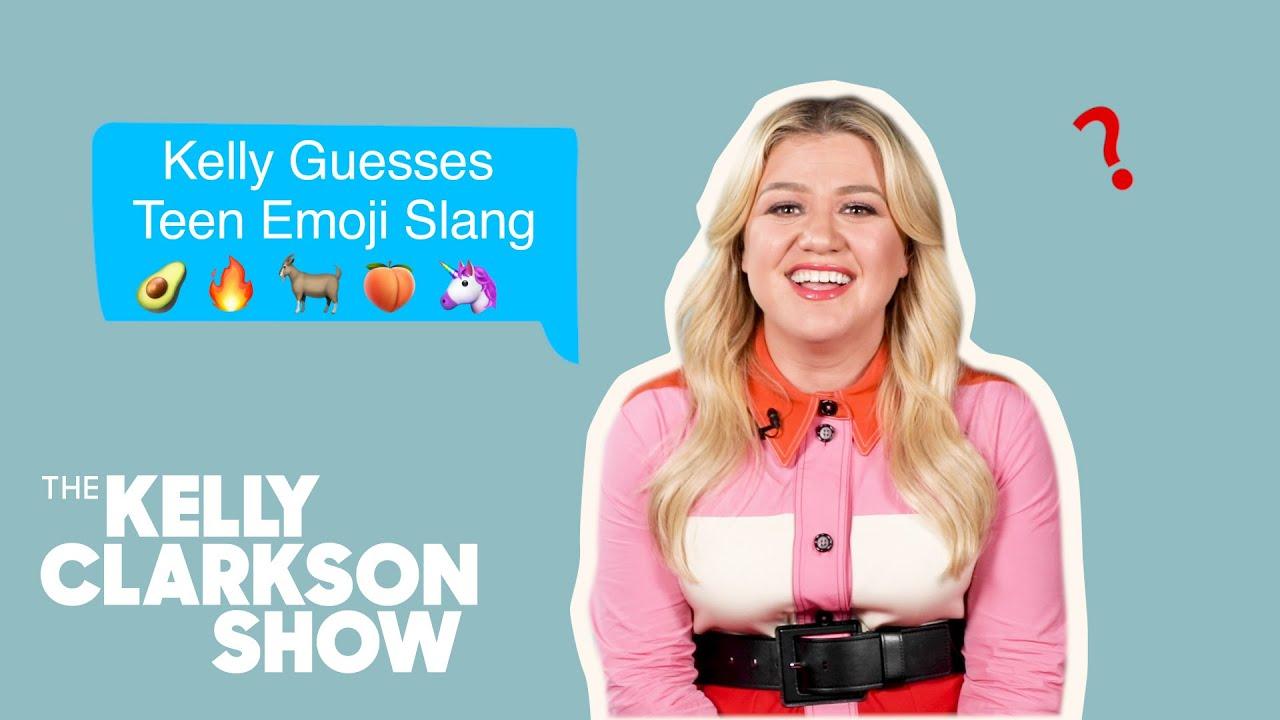 Kelly Clarkson Guesses Teen Emoji Slang   Digital Exclusive