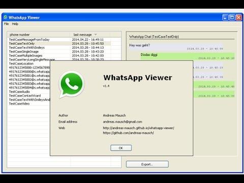 whatsapp database lesen