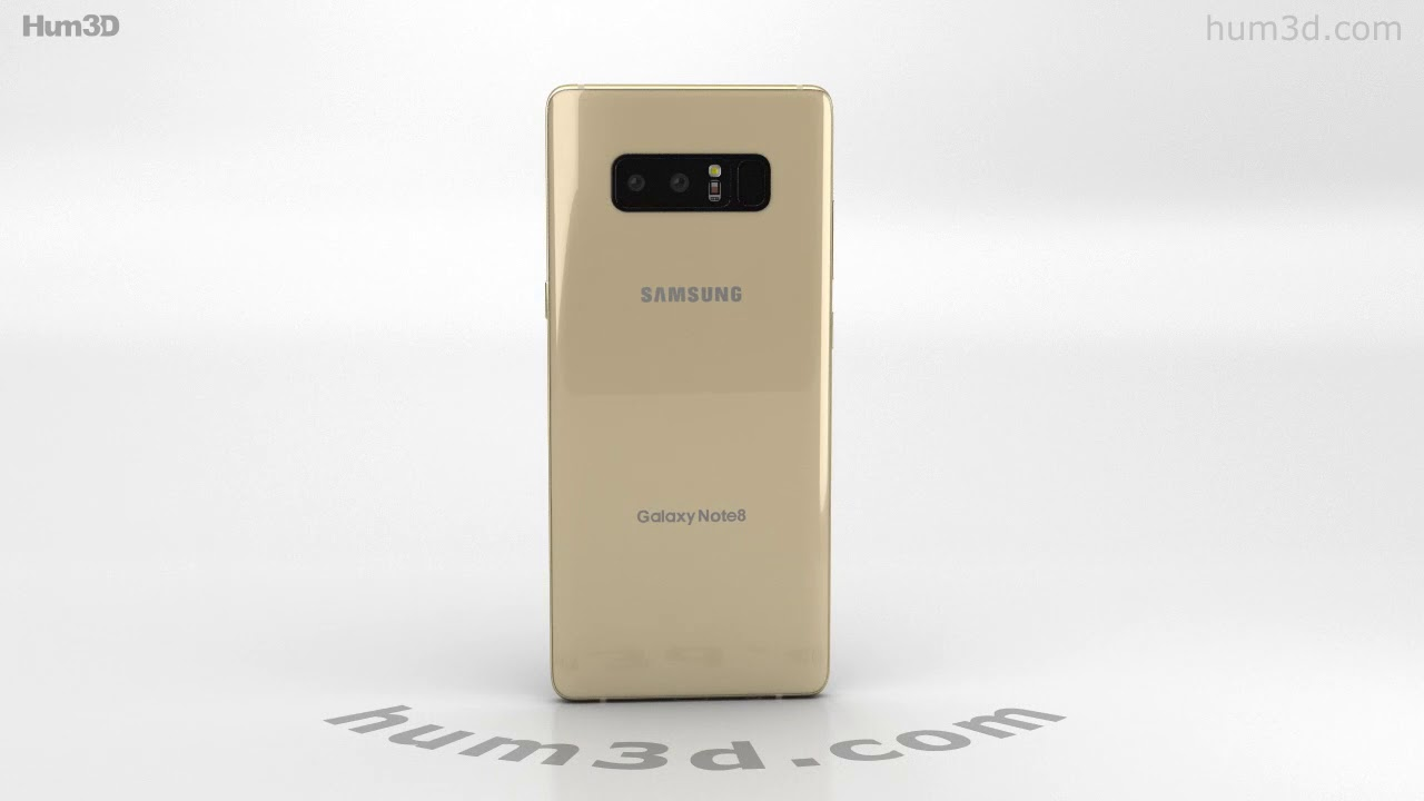 Samsung Galaxy Note 8 Maple Gold 3D model by Hum3D.com - YouTube 44556e12acbc