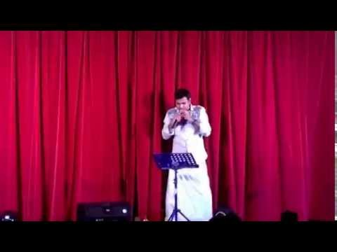 Mere sapno ki rani karaoke by manix Thundathil Joseph @ onam 2016, Haywards heath,UK