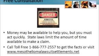 Asbestos Lawsuits New Jersey 1-866-777-2557 Asbestos Lawsuit NJ Lung Cancer Attorneys