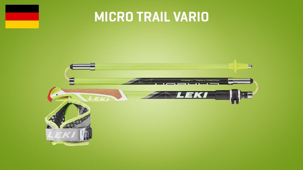 Leki Micro Vario Comp Marche//Course polonais