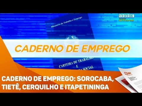 Caderno de Emprego : Sorocaba, Tietê, Cerquilho e Itapetininga - TV SOROCABA/SBT