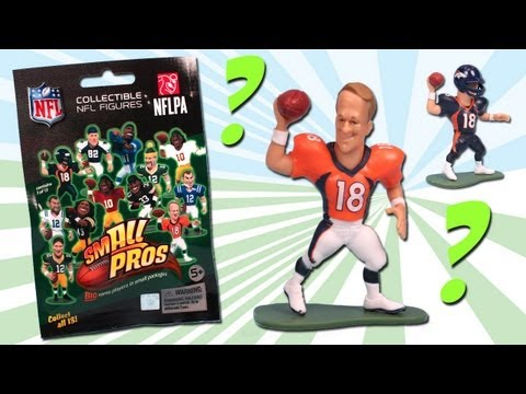 Small Pros NFL Blind Bag Series 1 Figures Review Rare Peyton Manning