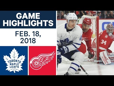 NHL Game Highlights | Maple Leafs vs. Red Wings - Feb. 18, 2018