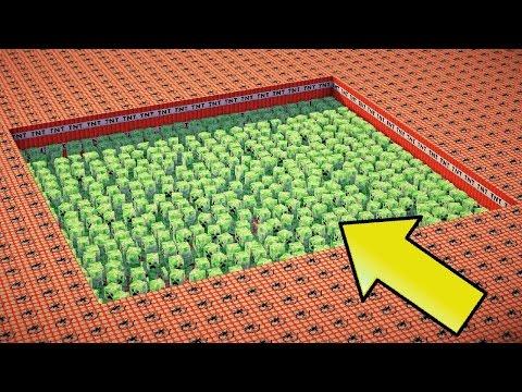 1.000 تي ان تي ضد 1.00 كريبر - ماين كرافت