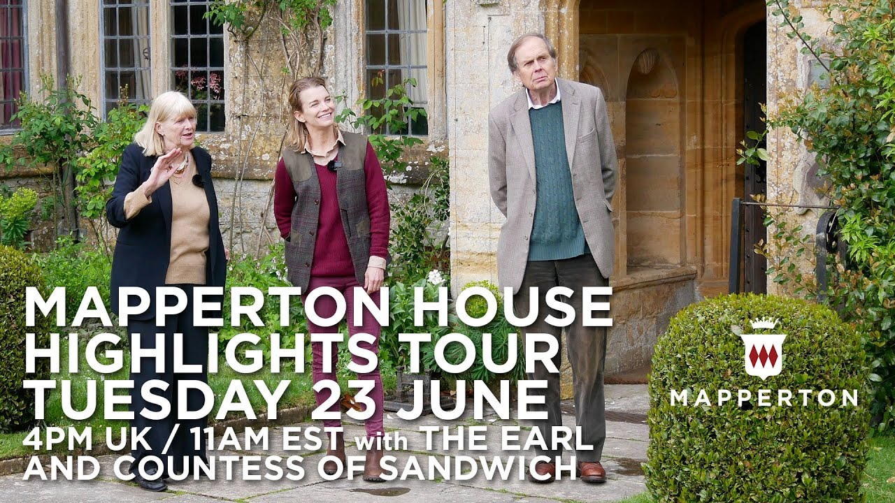 Mapperton House highlights and reflections tour with the Earl and Countess of Sandwich