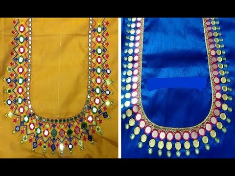 Simple And Elegant Thread Embroidery Work Blouse Designs For Plain