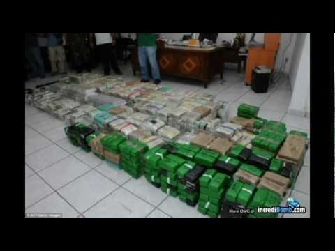 DRUG LORD $205,000,000 CASH in room EL CHAPOs Villa & guns Kingpins property