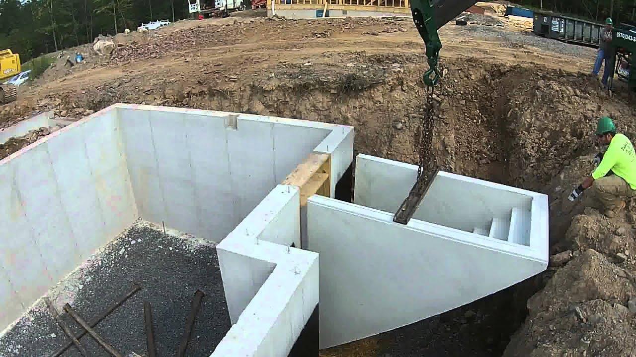 Precast Basement Steps Install Youtube   Precast Concrete Basement Steps   Basement Ideas   Image   Bethel Ct   Permentry   Basement Walls