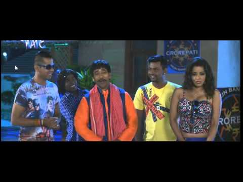 Monalisa hot in Raja Babu Movie. Hot red dress and massive cleavage!