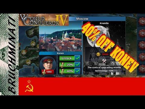 World Conqueror 4 | Famous Generals Konev 40% Discount Mission