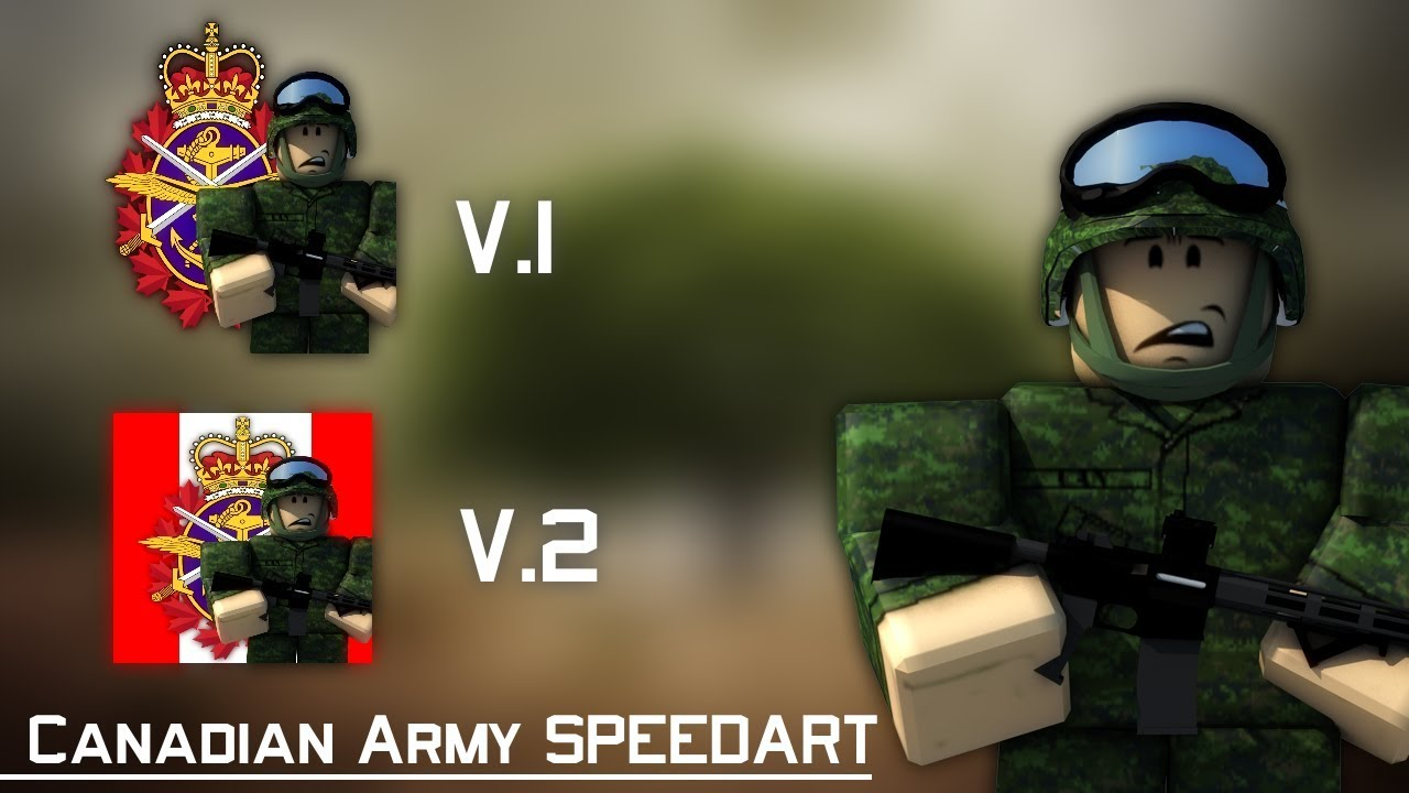 ROBLOX CANADIAN ARMY LOGO SPEEDART!