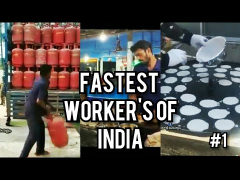 FASTEST WORKERS OF INDIA COMPLICATIO😯 | EXCELLENT WORKERS  | #1