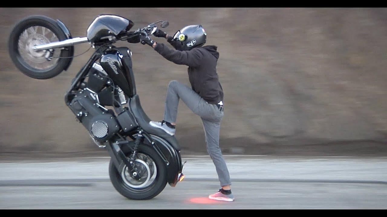 harley wheelie wheelies davidson crazy mulholland hwy dresser
