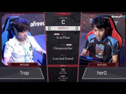 [2018 GSL Season 3] Code S Ro.16 Group C Match2 Trap vs herO