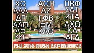 FSU Sorority Rush Experience 2016