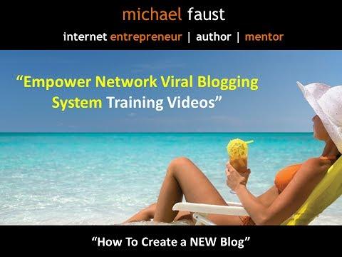 Mobile Blogging - How To Set Up A NEW Blog Using Empower Network Viral Blogging Platform