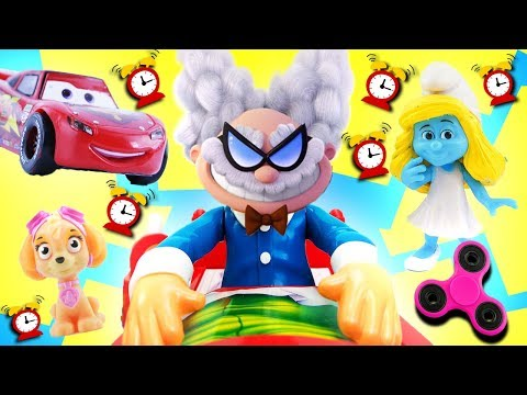 Thumbnail: Don't Wake Daddy Evil Professor Game! Captain Underpants, Skye, Smurfette, McQueen, Learn Colors!