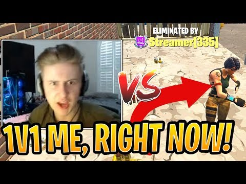 Symfuhny CHALLENGED Toxic Stream Sniper to a 1v1, then JEBAITED Him! - Fortnite Funny Moments