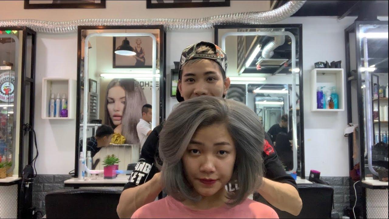 Nhuộm Tóc Màu Khói – Màu tro | Màu Tóc Đẹp  | Hair Colr Ahs – hot 2019