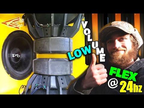 "LOW Volume BASS Testing w/ EXOs 6 18"" Subs & PSI Car Audio Recone / BC3500d & Crescendo Speakers"