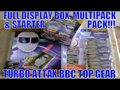 MEGA HUGE OPENING! | Topps TURBO ATTAX BBC TOP GEAR cards | DISPLAY BOX, MULTIPACK & STARTER PACK