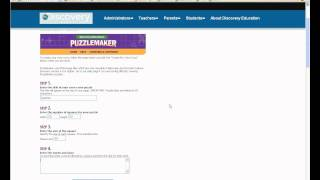 How To Make Your Own Criss Cross Puzzle On Discovery Puzzlemaker