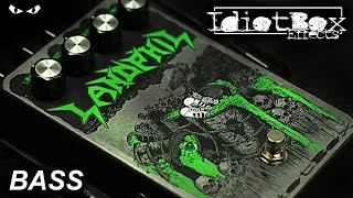 IdiotBox Effects LANDPHIL Bass Distortion - BASS Demo