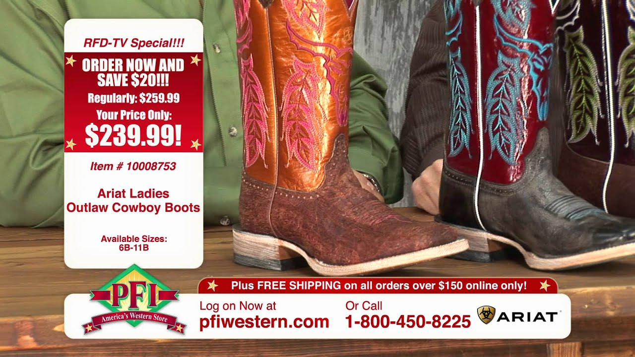 Ariat Outlaw Cowboy Boots - YouTube