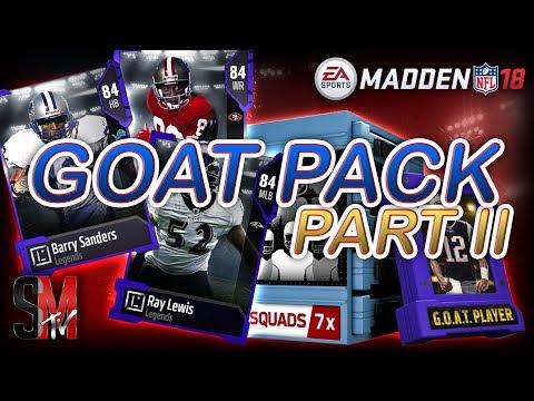 RELEASE PACK PARTY! GOAT PACKS SQUAD PACKS & GAUNTLET ELITE FANTASY PACK - MADDEN 18 PACK OPENING