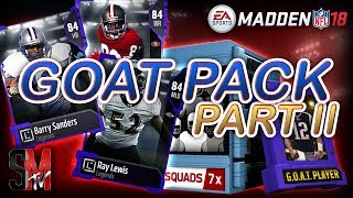 RELEASE PACK PARTY! GOAT PACKS SQUAD PACKS & GAUNTLET ELITE FANTASY PACK - MADDEN 18 PACK OPENING