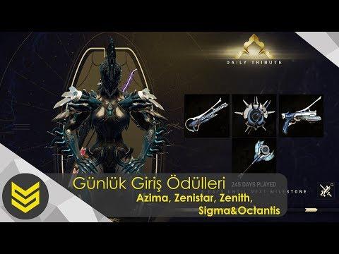 Warframe: Günlük Giriş Ödülleri | Azima, Zenith, Zenistar, Sigma & Octantis thumbnail