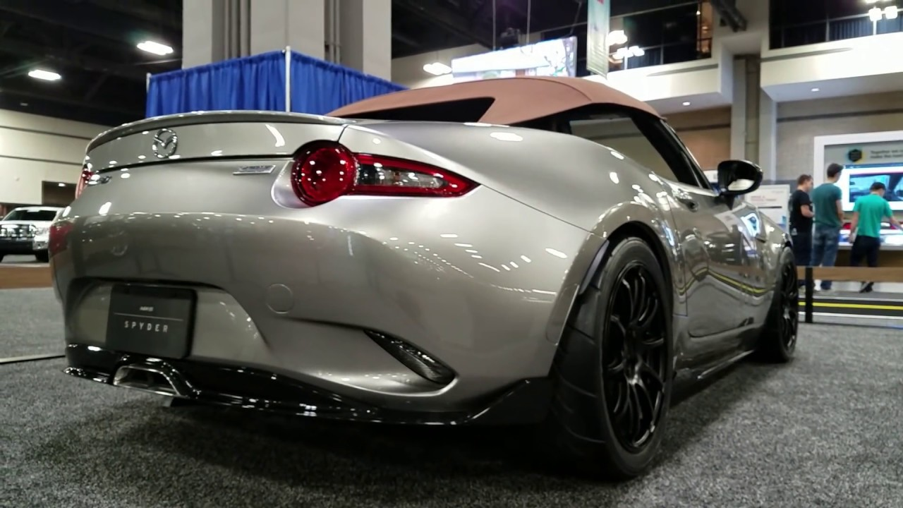2016 mazda mx5 miata nd spyder sema auto show review youtube. Black Bedroom Furniture Sets. Home Design Ideas