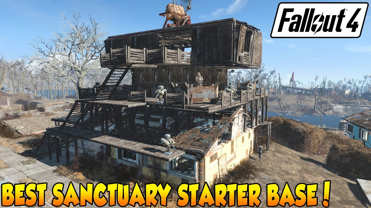 Fallout 4 best starter base 3 sanctuary youtube for Best house designs fallout 4
