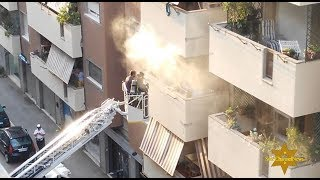 Incendio In Appartamento, Paura A Roma - Fire In An Apartment in Rome