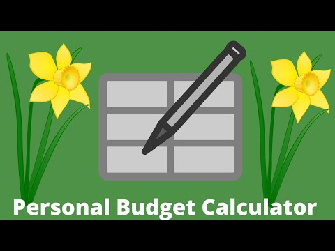 Simple personal budget calculator using a spreadsheet