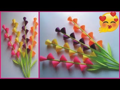 How to Make A Beautiful Paper Flowers | Making Paper Flowers Step by Step  By Golden Hacks