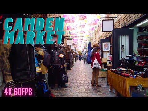 【4K】London Walk - Camden Town - Camden Market - Camden Lock - Stables Market - Post Lockdown 2020