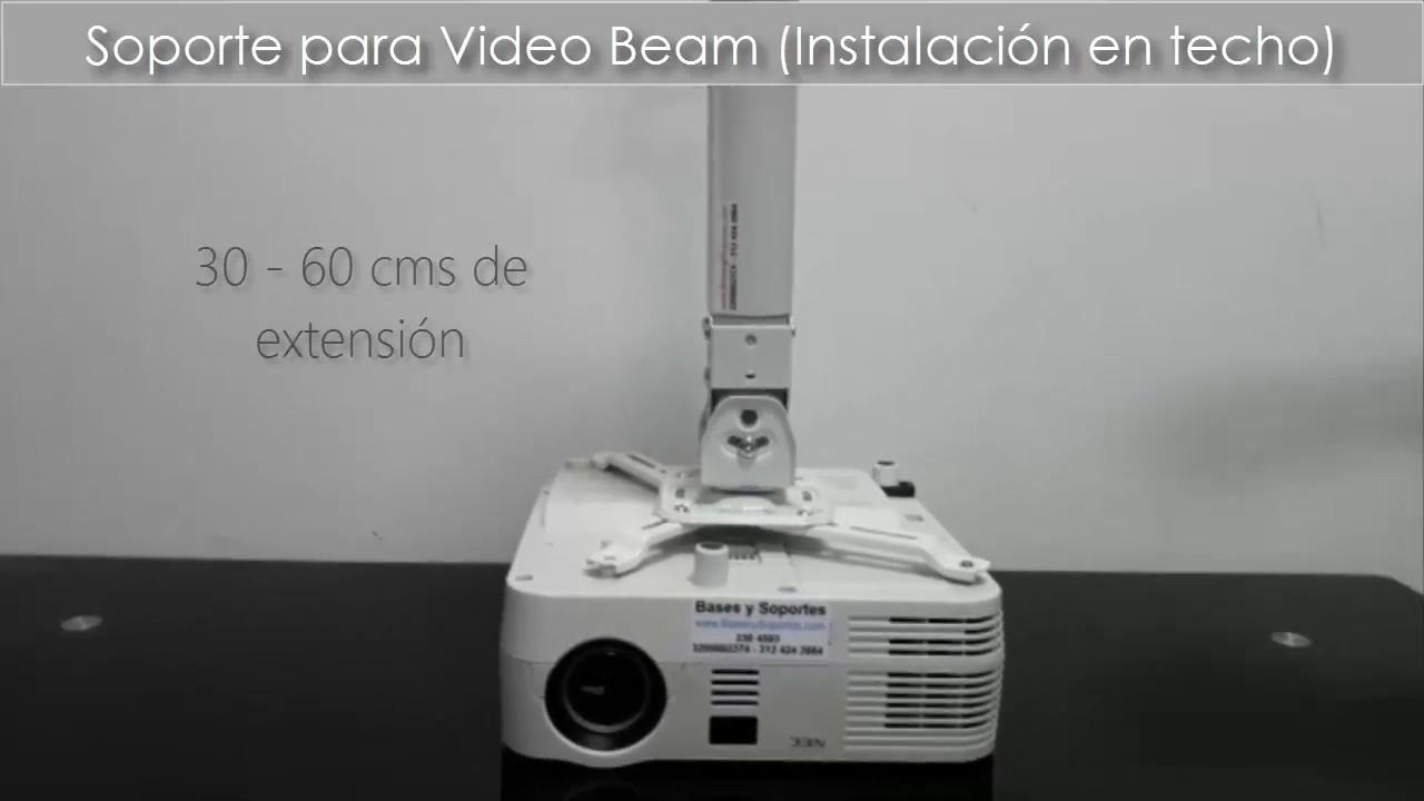 Soporte extensi n larga de techo para video proyector nec - Soporte pared proyector ...