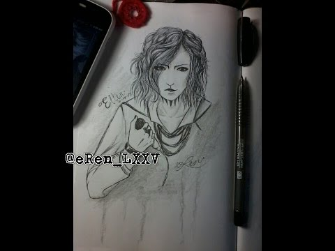 Ren making Ruki fan art XD
