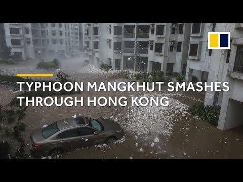 Typhoon Mangkhut smashes through Hong Kong