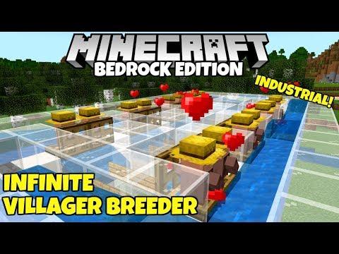 Minecraft Bedrock: WORKING Infinite Villager Breeder! (Industrial) Village And Pillage Update!