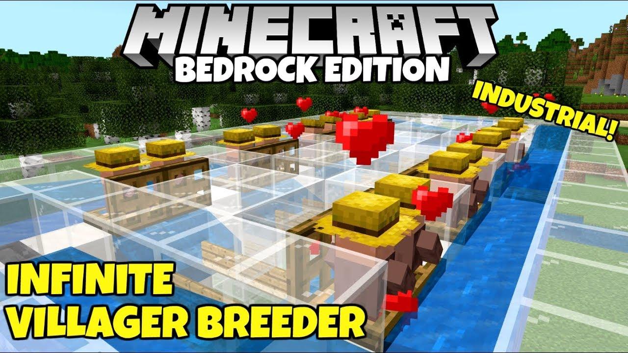 Minecraft Bedrock: WORKING Infinite Villager Breeder! Village And