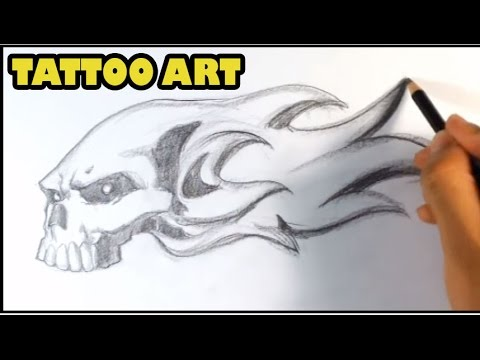 How To Draw Skull On Fire