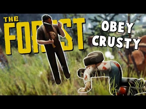 KROJAK BOWS DOWN TO CRUSTY! - The Forest Hard Mode Co-Op Gameplay #1