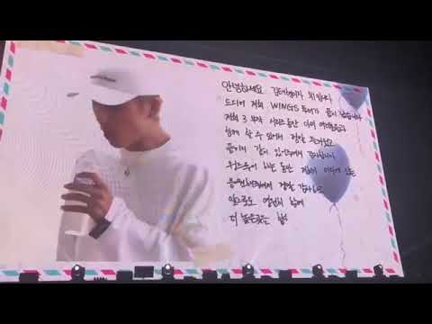 Taehyung hand's writing ,is so beautiful