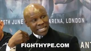 CHRIS EUBANK SR. AND DAVE COLDWELL ARGUE AND TRADE WORDS AT JOSHUA VS. BREAZEALE UNDERCARD PRESSER