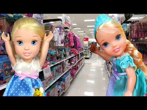 Thumbnail: TOY HUNT with ELSA & CINDERELLA toddlers ! Lots of toys and dolls ! Hunting and Playing