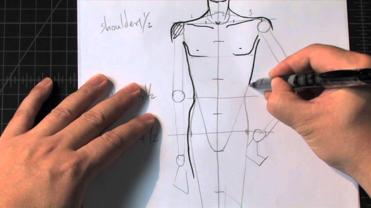 How To Draw A Male Standing Pose A Fashion Design Lesson Preview Youtube